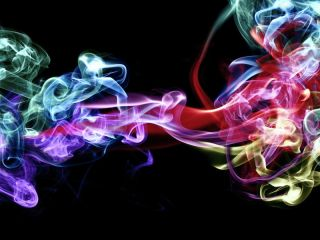 Psychedelic multicolored smoke.
