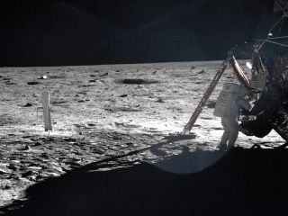 Apollo 11 photo of Neil Armstrong on the Moon.
