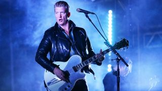 Josh Homme performs with Queens of the Stone Age during Splendour in the Grass on July 22, 2017 in Byron Bay, Australia