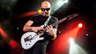 Joe Satriani performs for G3 project at Castello Sforzesco on July 22, 2012 in Vigevano, Italy