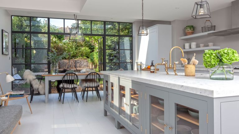 Belinda Flury's extended kitchen is classically chic