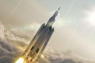 SLS Launch art