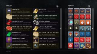 Destiny 2's Pursuits tab is getting a facelift - check out the revamped version