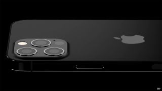 Render of the back of an iPhone 13 Pro in matte black