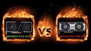 GeForce RTX 3070 vs Radeon RX 6700 XT