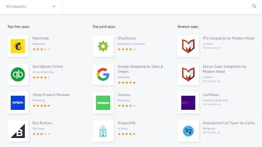 BigCommerce's app store