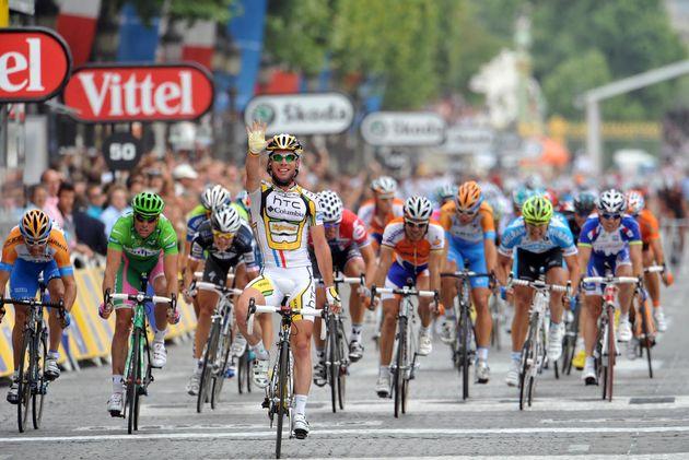 Mark Cavendish wins, Tour de France 2010, stage 20