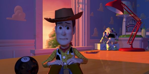 Woody looking sad in Toy Story