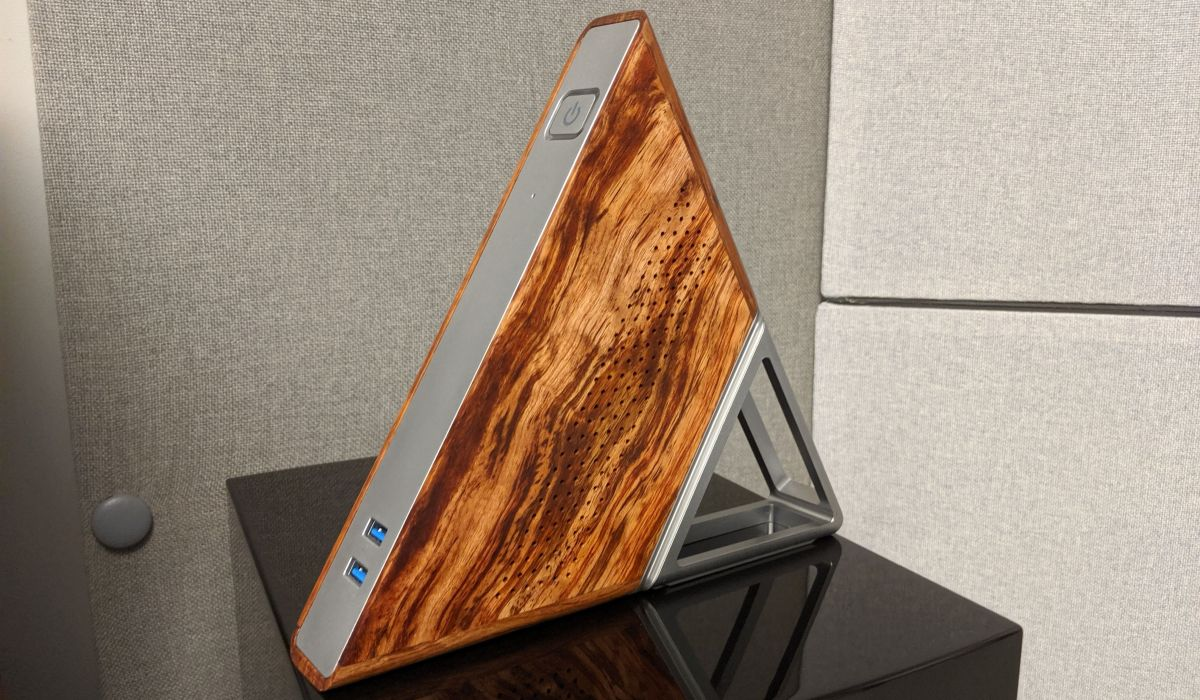 This insanely cheap $136 PC is basically a triangle made out of wood