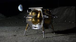 Astrobotic lunar lander art