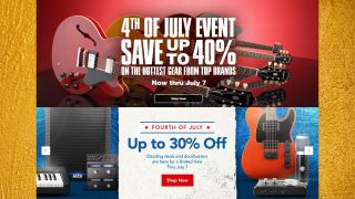 Save big on guitar gear this Independence Day weekend with 4th of July sales from Musician's Friend and Guitar Center