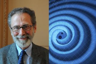 Yves Meyer is known for his pivotal role in developing the wavelet theory, which is used to detect gravitational waves from two black holes merging (right).