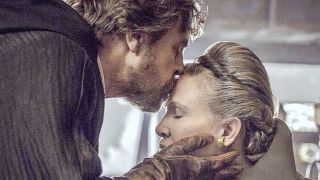 Luke Skywalker (Mark Hamill) and Leia Organa (Carrie Fisher) in a scene from Star Wars: The Last Jedi