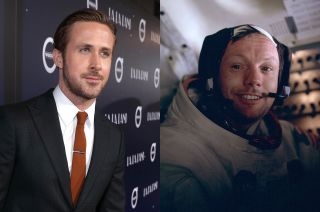 Ryan Gosling and Neil Armstrong