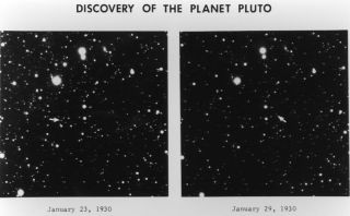 Original plates from Clyde Tombaugh's discovery of Pluto in Lowell Observatory Archive in 1930.