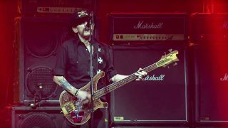 Lemmy performing live with Motorhead