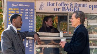 (L-R): Aldis Hodge as Decourcy Ward and Kevin Bacon as Jackie Rohr in 'City on a Hall'