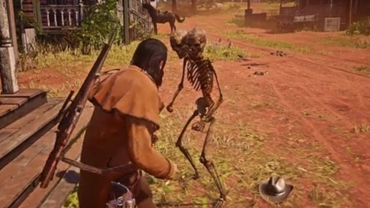 Red Dead Online is suffering an undead nightmare thanks to two-headed skeleton hackers - GamesRadar+