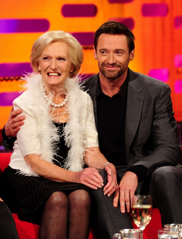 Mary Berry and Hugh Jackman on the Graham Norton Show in 2012