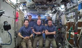 The crew of Expedition 45
