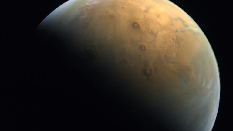 Behold! See the 1st Mars closeup from UAE's Hope orbiter (photo). - Space.com