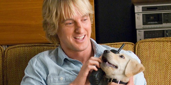 Owne wilson and dog in Marley and Me