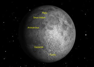 Gibbous Moon Skywatching Sights