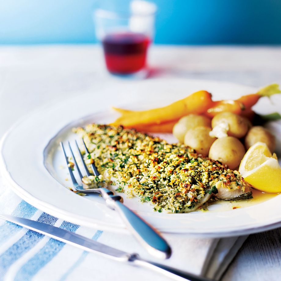Baked Almond Crusted Trout Fillets