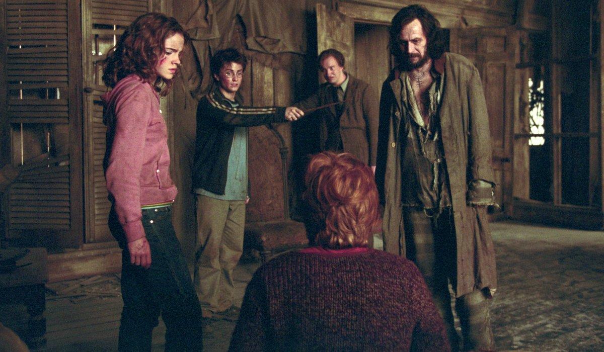 Harry Potter and the Prisoner of Azkaban the Shrieking Shack showdown between Harry, Ron, Hermione, Sirius, and Remus