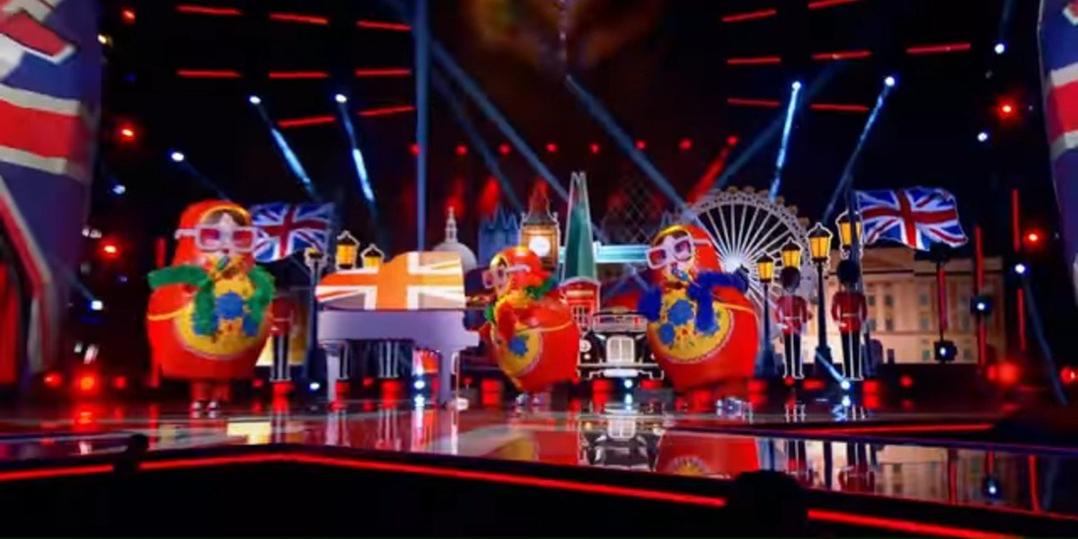 """The Russian Dolls performing Elton John's """"I'm Still Standing"""" in their last Masked Singer performance"""