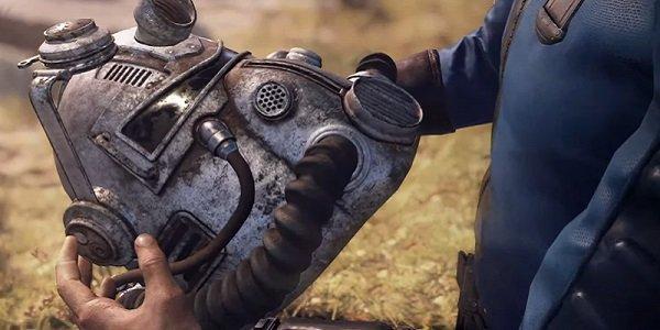 A Fallout Power Armor helmet.