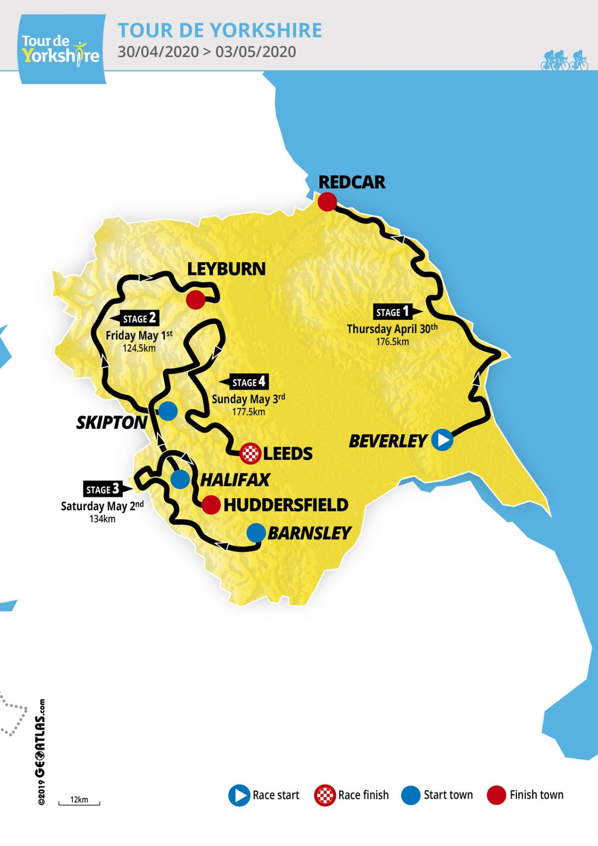 Tour de Yorkshire unveils 2020 race route