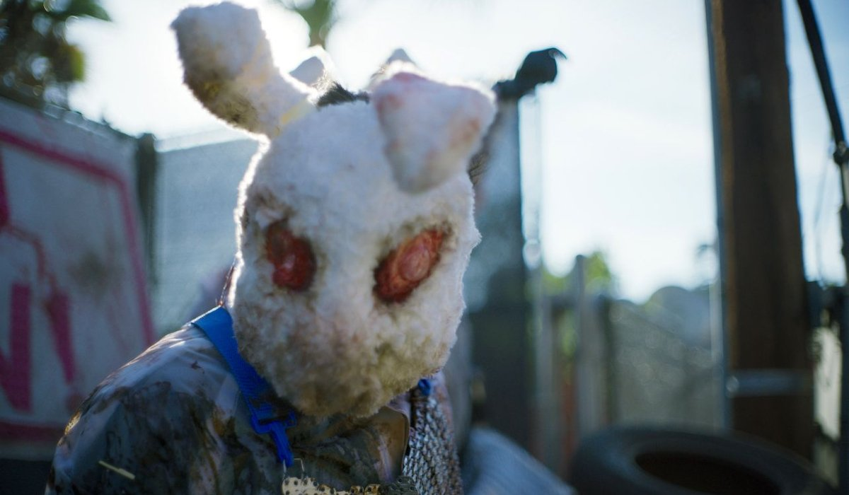 An Ever After Purger wearing a bunny mask in The Forever Purge.