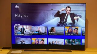 The Sky Glass TV interface showing the Playlist feature