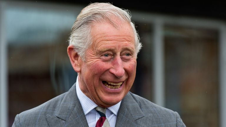 Prince Charles looking happy