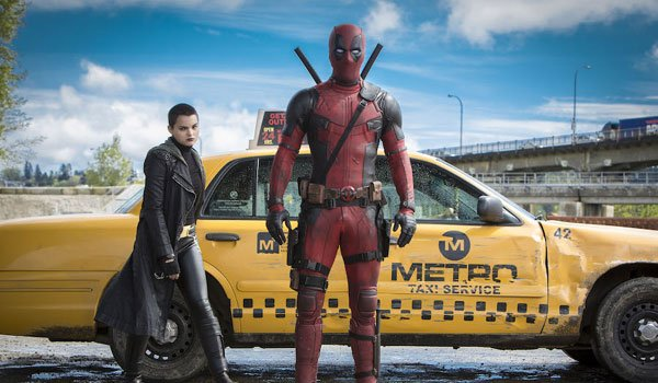 negasonic teenage warhead and deadpool in front of cab
