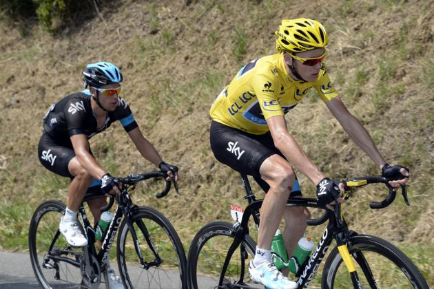 Chris Froome and Richie Porte, Tour de France 2013, stage 14