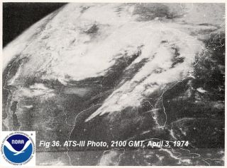 This storm system spun off 148 tornadoes across 13 states on April 3 and 4 in 1974.
