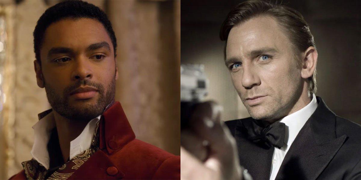 Rege-Jean Page and Daniel Craig as James Bond