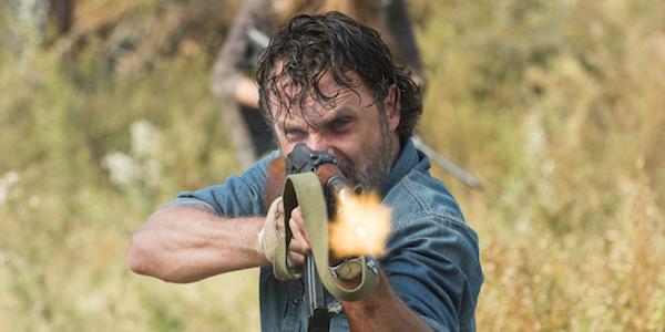 rick blasting gun walking dead season 7 finale