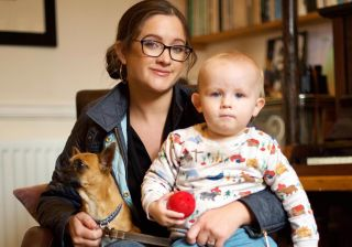 Jo-Rosie and Dulcie in Train Your Baby Like a Dog
