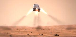 dragon mars spacex video still