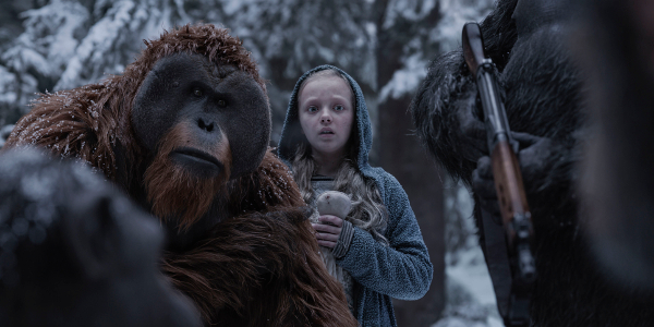 War for the Planet of the Apes Maurice Nova snowy woods