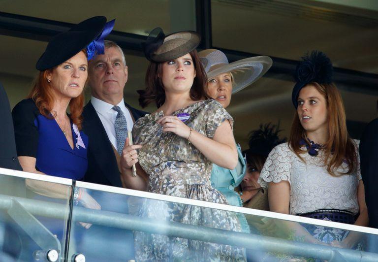 Beatrice, Eugenie, Andrew and Sarah Ferguson, Royal Lodge