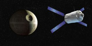 It would take four launches a second to build the Death Star with Europe's cylindrical ATV spacecraft.