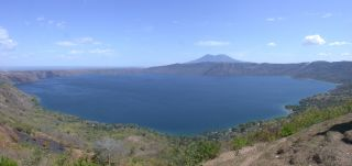 The Apoyo Caldera in Nicaragua