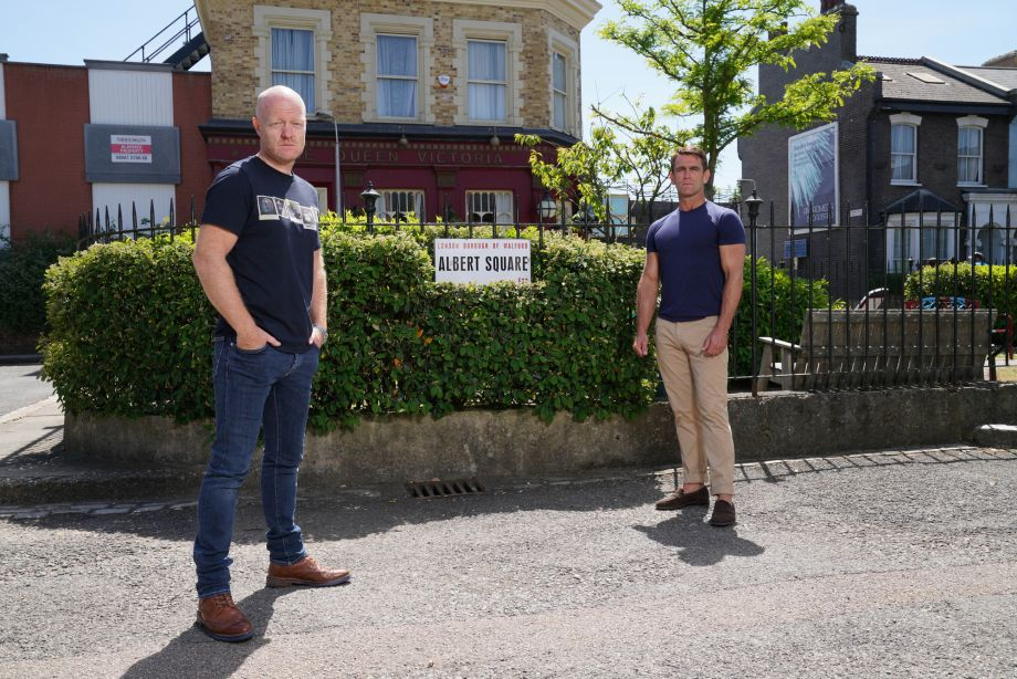 Jake Wood and Scott Maslen as Max and Jack Branning