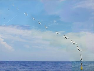 U.S. Navy's Launches Drone from Submarine