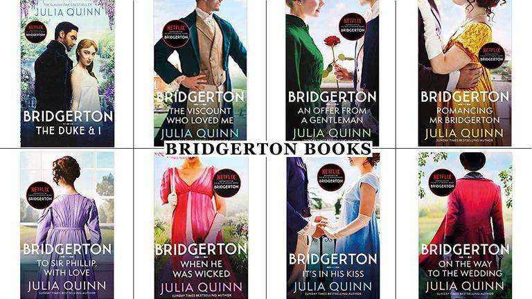 Bridgerton book covers