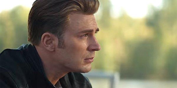 Crying Steve Rogers Captain America in Avengers: Endgame trailer, MCU